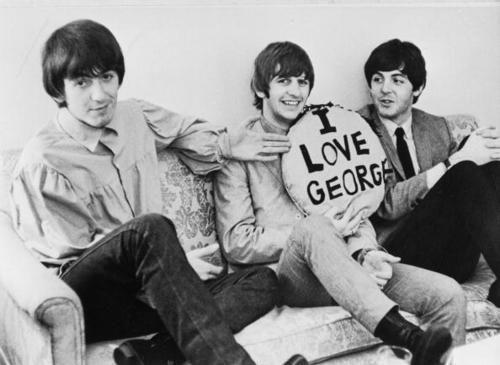 George Harrison, Ringo Starr and Paul McCartney