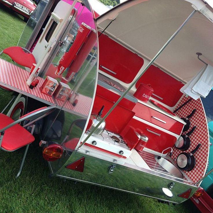 Cute Kitsch Kitchen on wheels! *want* #corbridgecarshow #nofilter