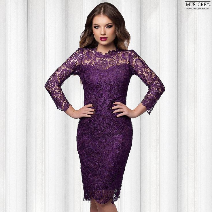 Be elegant and provocative wearing the Noelle lace dress in the shade of the year, purple and impress everyone with your refined look. Discover the new discounted price in our online shop.