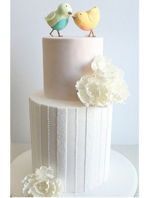 WEDDING BIRDS - $890White Cake, Cake Design, Cake Ideas, Cake Decor, Wee Cake, Wedding Cakes, Beautiful Cake, Eating Cake, Birthday Cake