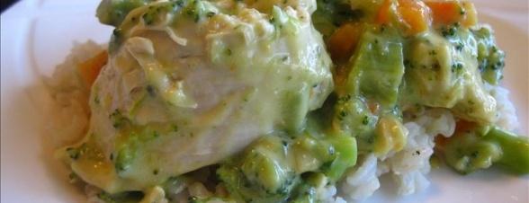Creamy Broccoli And Chicken Over Brown Rice Dinner Recipe