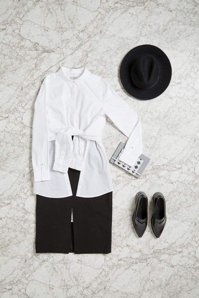 The black skirt is a classic and a wardrobe staple. If you don't have one, get one. The wardrobe classic makes it perfect for your work attire, but styling it from basic to noteworthy is where the real fun starts. While there are no rules in fashion, there might be rules for fashion in the workplace. We've put together five looks to set you up for success, both professionally and fashionably.