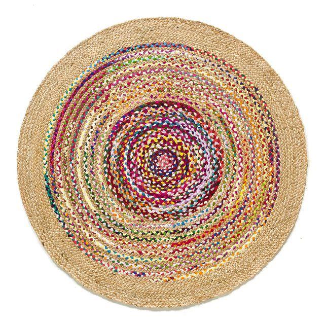 Tapis, Jaco AM.PM : prix, avis & notation, livraison. En coton et jute tréssé à la main. Rayé multicolore. Dimensions de tapis Jaco :- Ø120 cm.Livraison chez vous : Votre tapis Jaco sera livré chez vous sur rendez-vous, même à l'étage ! Attention ! Veuillez vérifier que les ouvertures (portes, escaliers, ascenseurs) permettront le passage du tapis lors de la livraison.