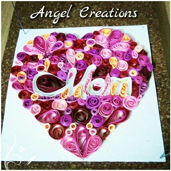 Quilled heart...mother's day  https://m.facebook.com/QuillingAngelCreations/