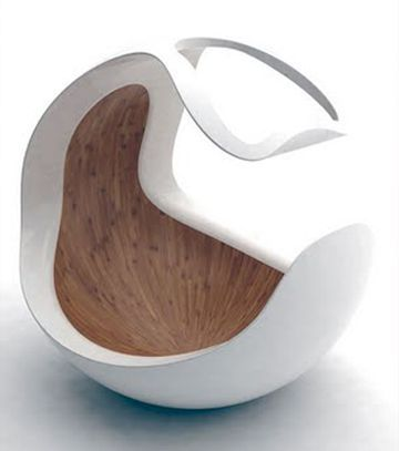 Baby C - Conçu par le britannique Dripta Roy, co-fondateur du studio de design hollandais Puur. Berceau contemporain inspiré par l'environnement utérin d'une mère.