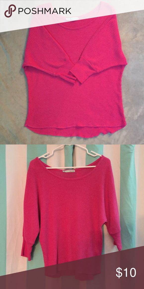 Pink slouchy top 3/4 sleeve pink slouchy top. Great condition. Maurices Tops Tees - Long Sleeve