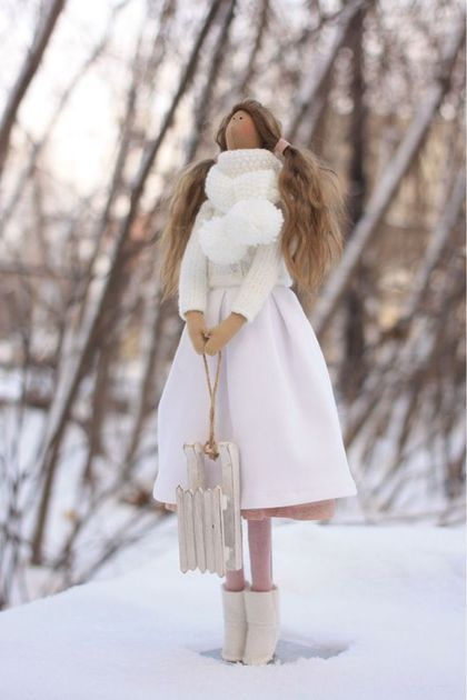 Куклы Тильды ручной работы. Ярмарка Мастеров - ручная работа. Купить Зимняя принцесса в стиле Тильда. Handmade. Кукла Тильда