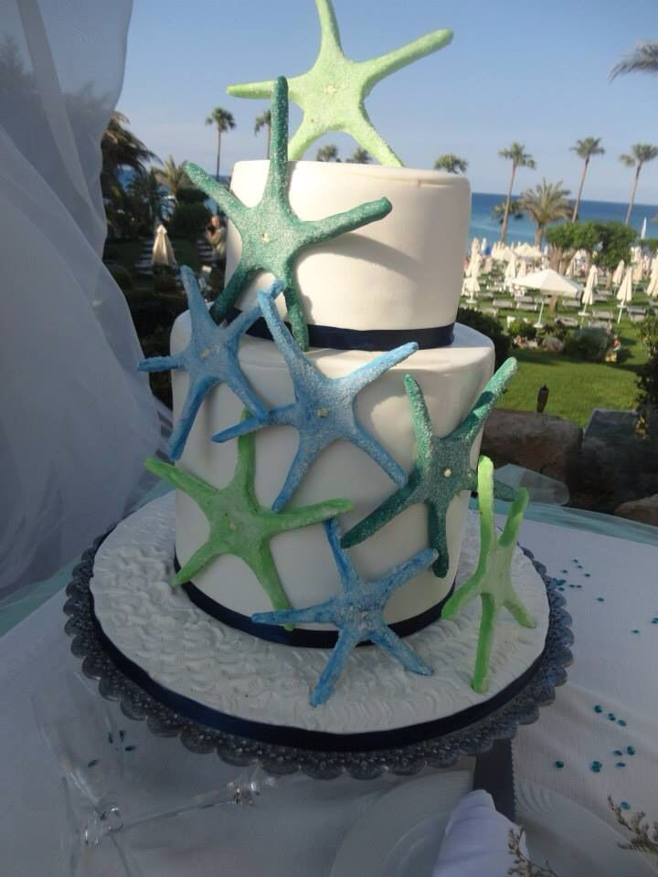 Starfish cake! Made by the talented pastry chefs at the Sunrise Beach Hotel