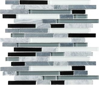 bliss glass tile midnight linear