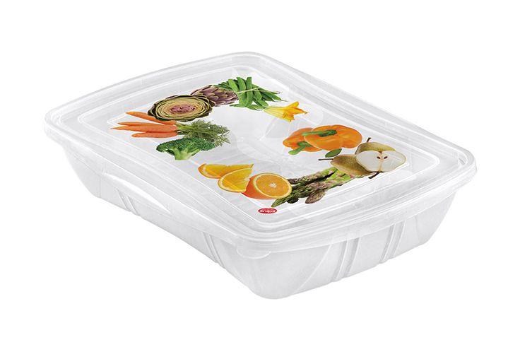 Fresh Container rett. 1,0 L. Contenitore per frutta e verdura, per mantenerne a lungo la freschezza e il sapore. #verdura #box #cibo