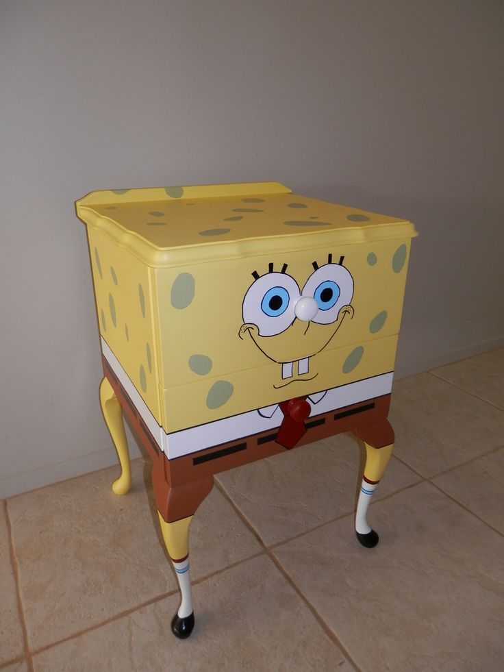 Another one of my up cycled bits of furniture, I have almost finished another spongebob