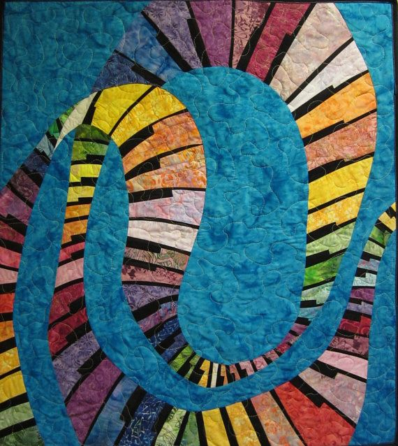 Dancing Music Art Quilt by JaneHicksQuilts Very free and artistic!