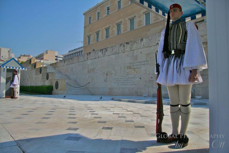 Athene - Griekenland, guards (visited augustus 1992)