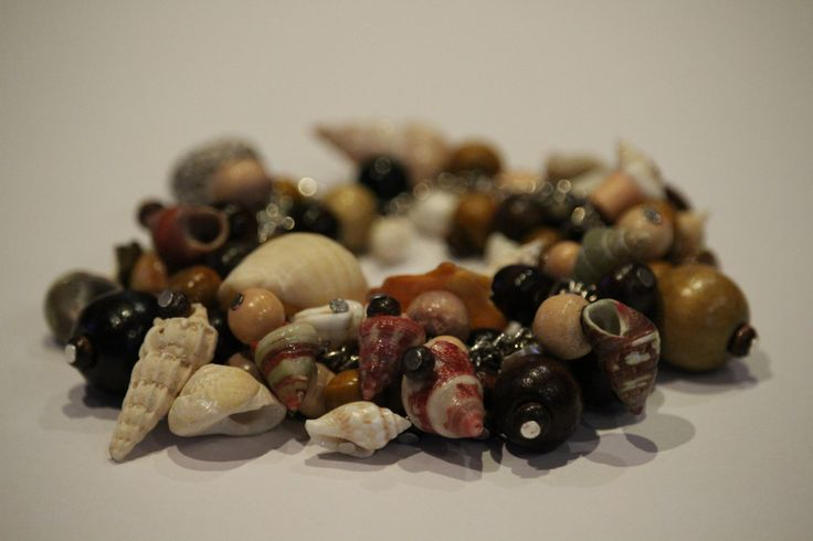 shell and wooden bracelet by 1OfakindHomemade on Etsy