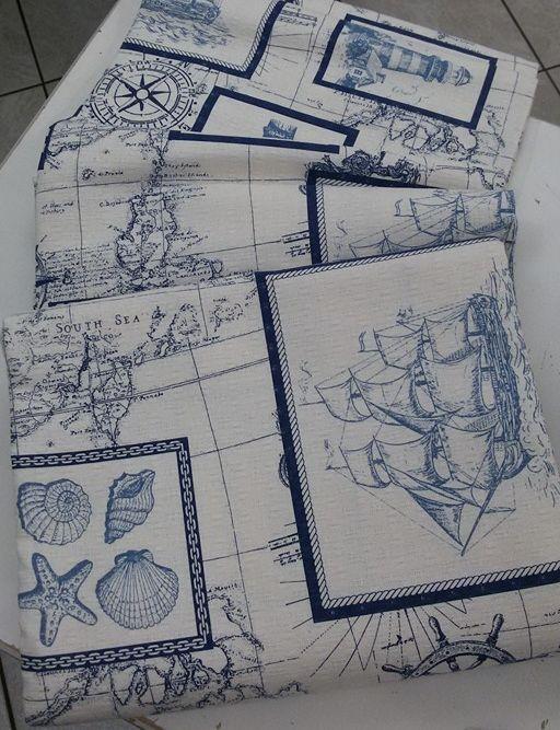 Copriletto cotone tema marino. Da Spugna Riccione.