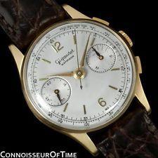 1961 WAKMANN GIGANDET Swiss Vintage Mens Chronograph - 18K Gold