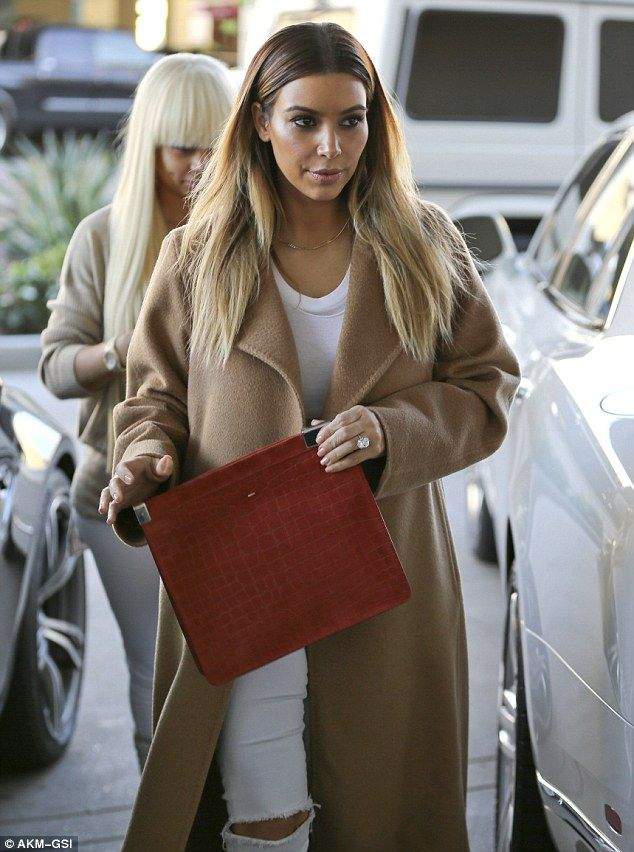 Serious shopper: Kim Kardashian was ready for action on Friday as she arrived at the Neiman Marcus  department store with best friend Blac Chyna in LA