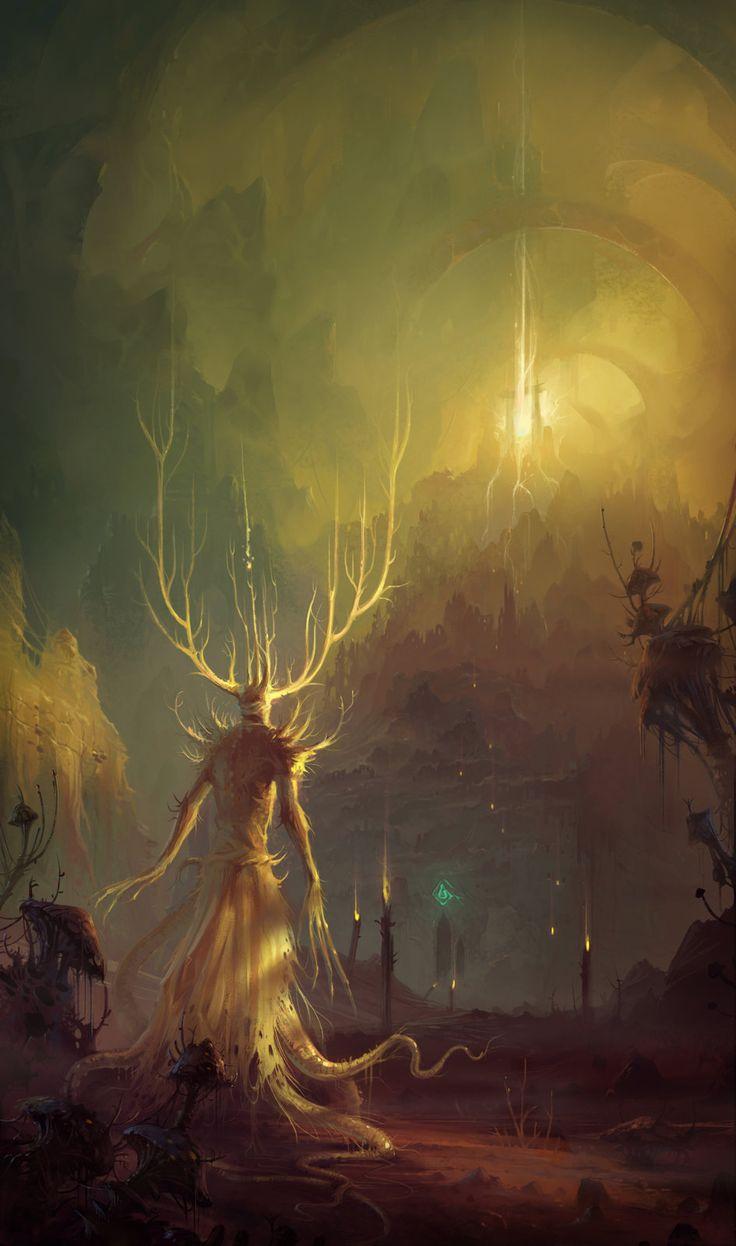 The King in Yellow, Hristo Chukov on ArtStation at https://www.artstation.com/artwork/KO3zx