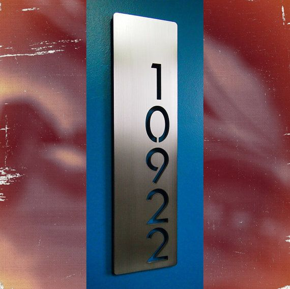 Custom F 150 >> Custom Modern Floating House Numbers Vertical Offset in Stainless Steel | Floating house, Number ...