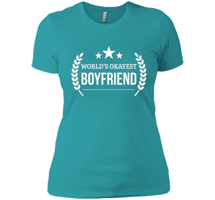 Men's World's Okayest Boyfriend Funny Boyfriend Gifts T-shirt