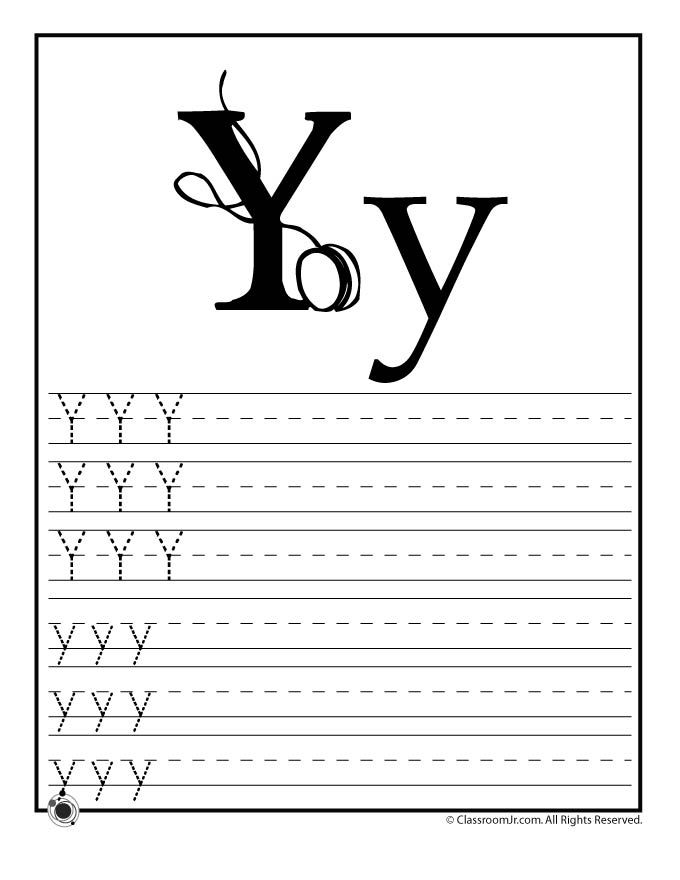 learning abcs worksheets learn letter y classroom jr