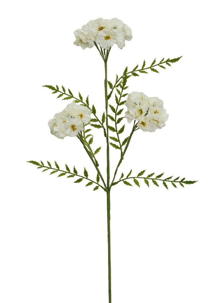 "Artificial Phlox Flower Spray in White - 25"" Tall"