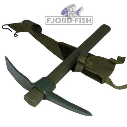 US-Style-Pickel-Holzstiel-Axt-Spitzhacke-Flachhacke-Hacke-Eispickel-oliv-TOP