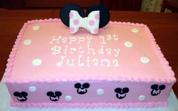 Homemade Minnie Mouse Sheet Cake 27 best images about b...