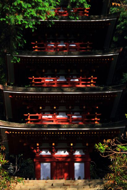 National Treasure of Japan, Five-story pagoda of Muro-ji temple, Nara, Japan
