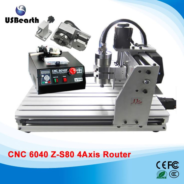 Desktop CNC machine 6040Z-S80 4 axis engraving machine for metal wood, CNC router, free tax to EU #Affiliate
