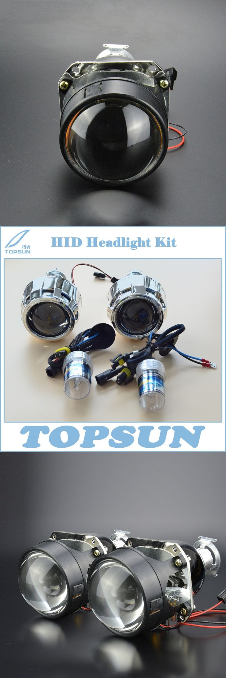 OEM Car Styling Retrofit Kit including 55W H1 HID Headlight  Lamp and WST 2.5 inch Projector Lens With Mini Shroud