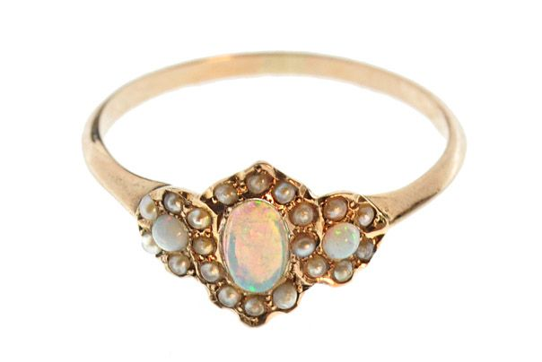 antique victorian pearl and opal ring via we dream in color