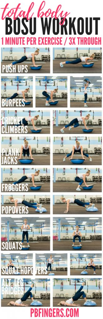 Total Body BOSU Workout A total body BOSU workout that targets the upper body, c… – Hairstyle