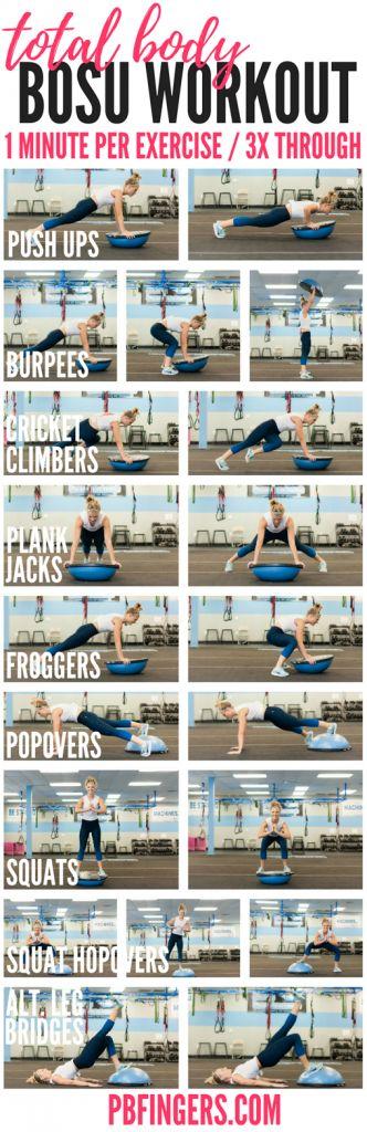 Total Body BOSU Workout A total body BOSU workout that targets the upper body, c… – womens-fashion