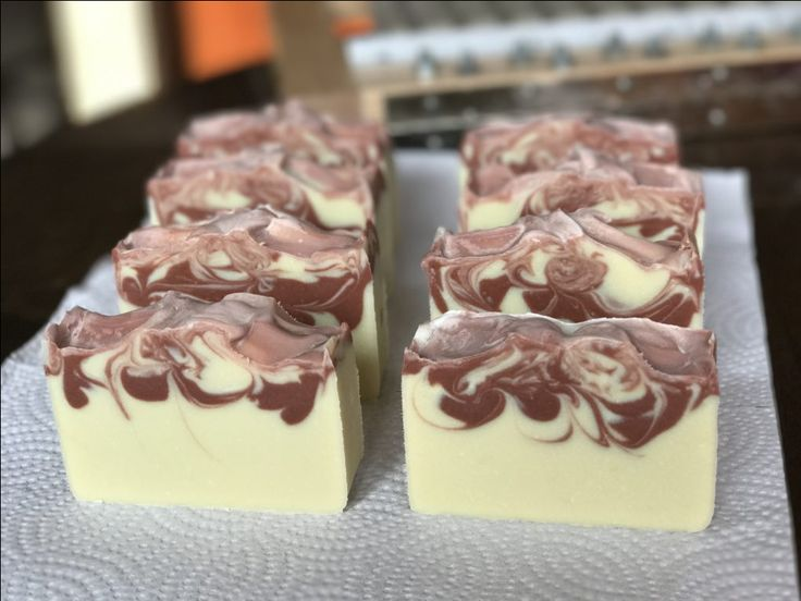 Natural Handmade Soap made with coconut milk and Rose Clay. Made in Calgary by Sudsy Mommas.
