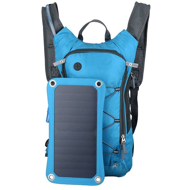 SOLAR POWERED BACKPACK WITH USB PORTS AND WATER BAG buythetrends.com