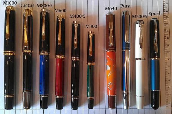 Range of Pelikan Fountain Pens