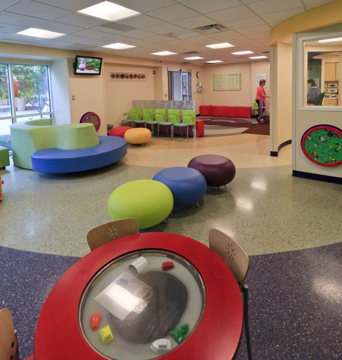 Designs. Just one of the many colorful, interactive and kid-friendly waiting and treatment areas Dayton Children's has to offer.