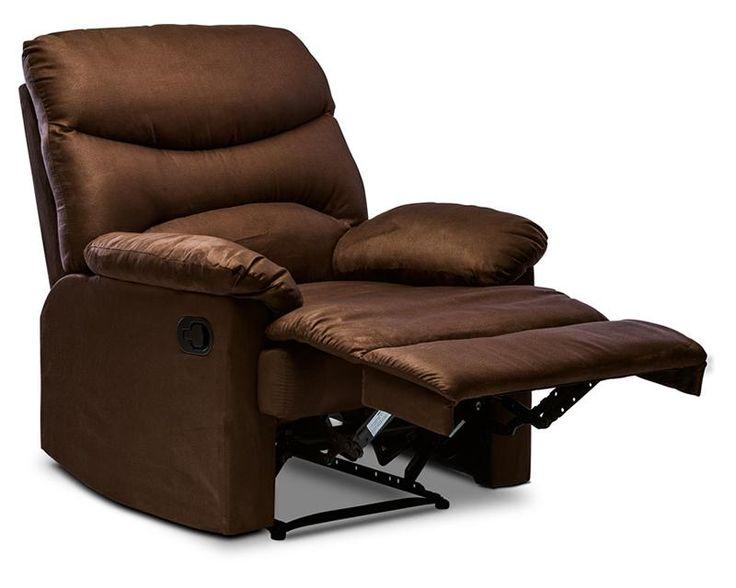 Sill n reclinable celeste tapizado en microfibra caf - Sillon para dormitorio ...