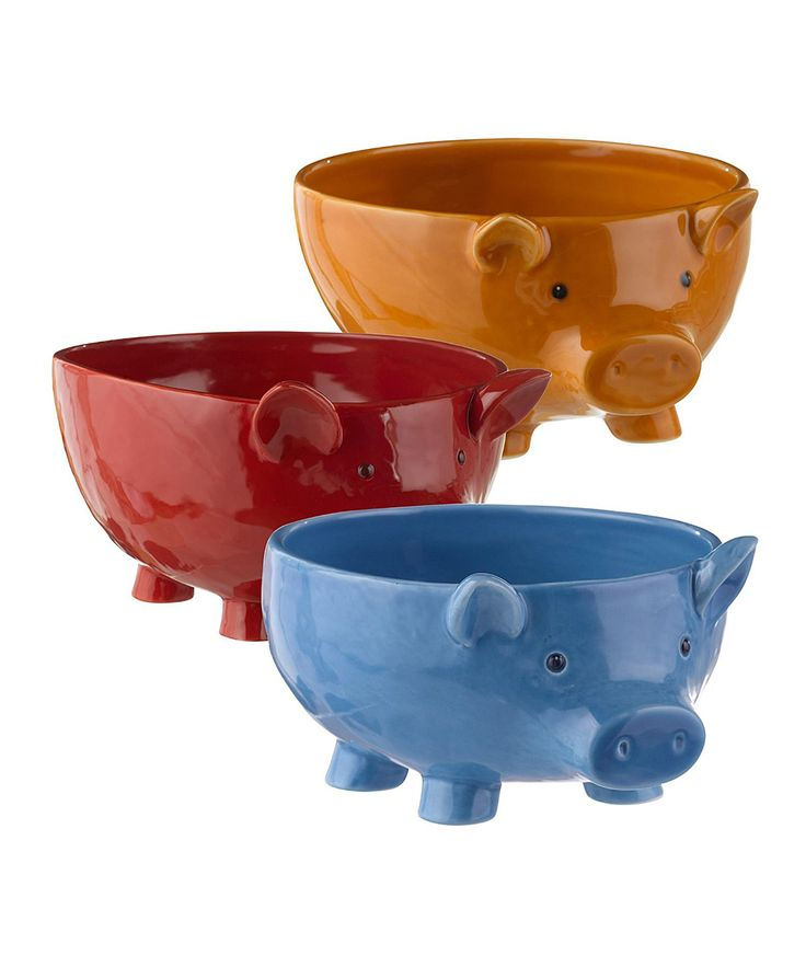 Pig Bowl Set | zulily