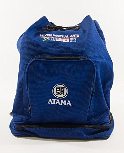 Made of Kimono/GI material with Atama logo embroidered.  Vertical inside pocket. Front pocket for Keys wallet etc . Bottom pocket gear there is padding at the bottom to keep your used wet gear fr...