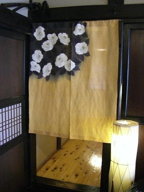 蕎仙坊の廊下暖簾