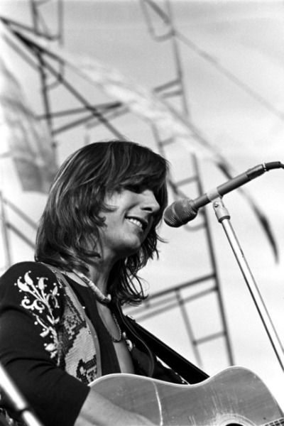 Gram Parsons performing with The Flying Burrito Brothers at Altamont, 1969. Photo by Sam Emerson.