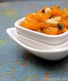 Three Healthy Indian Curries with Pumpkin: (1)  Quick Pumpkin Curry in Coconut Gravy, (2) Healthy Lentil and Pumpkin Curry; (3) Cottage Cheese Koftas in Pumpkin Gravy