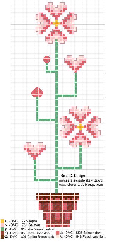 """Collezione punto croce """"I fiori di Rosa"""" fiori rampicanti"""