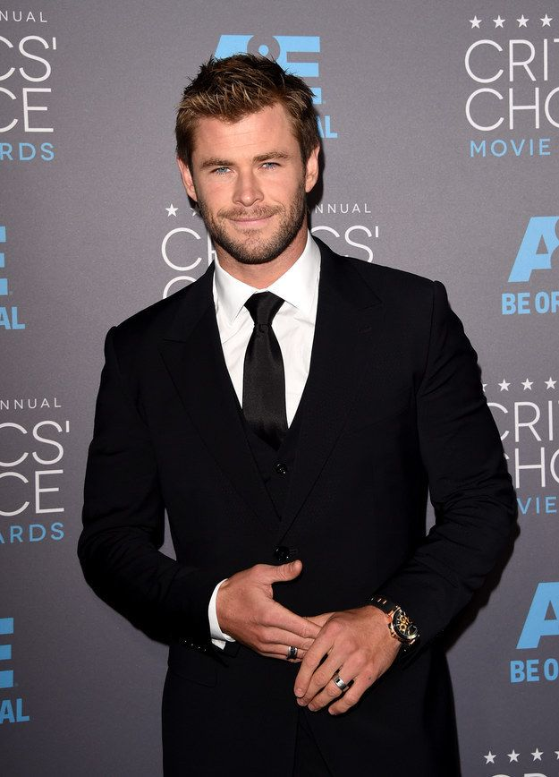 When he wore the hell out of this suit. | 32 Times Chris Hemsworth Made You Pregnant Without Even Touching You