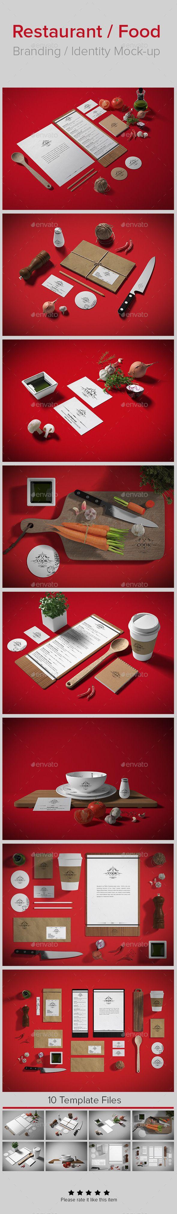 Restaurant / Food Branding Identity Mock-up (Stationery) Restaurant 20 20Food 20Preview