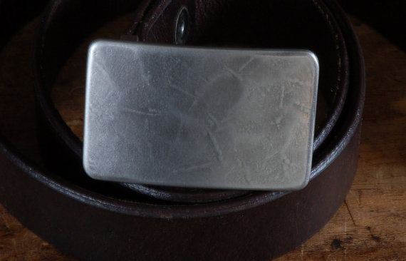 "Silver Jack Frost Suit Belt Buckle Hypoallergenic Stainless Steel Textured Classic Men's Buckle Accessories Signed Original Fits 1-1/4"" Belt"
