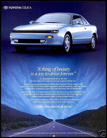 1990 Toyota Celica GT ad.