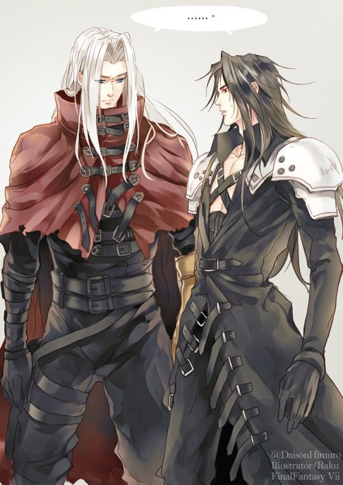 Sephiroth and Vincent clothes swap. Hahahaha!!